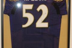 Custom Framed Ravens Football Jersey