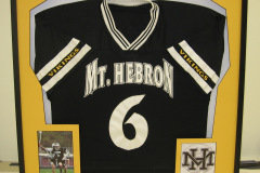 Custom Framed high school jersey with action photo