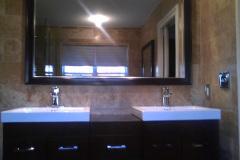 Custom Framed Bathroom Mirror